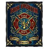 Faux Fur Blanket 50 x 60  Volunteer Fire Tradition Sacrifice d Throw Blanket ADD7-FF2085-TB
