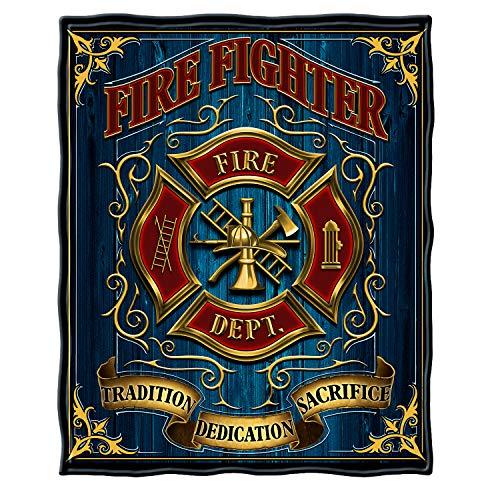 Erazor Bits Couch Throw Blanket 50 x 60| Volunteer Fire Tradition Sacrifice d Throw Blanket FF2085-TB