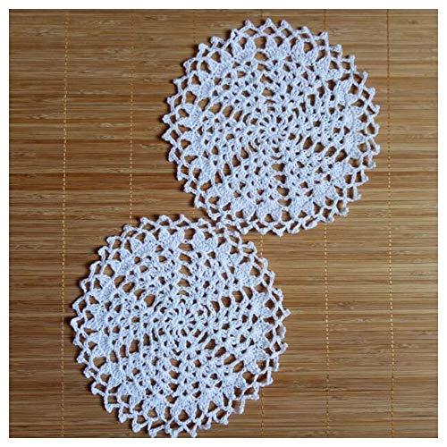 Jubaren7 Algodón Moderna Ronda de una Copa Mantel Taza montaña Cocina Comedor Mesa de café de Encaje Tela de la Estera de Lugar Crochet tapete de Almohadilla Té de la Navidad Manteles