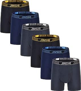 Men's Cotton Breathable Boxer Brief Long Leg Underwear for Pack