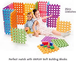 UNiPLAY Soft Building Blocks - Big Cube, Educational and Creative Toys. Food Grade Material(Antibacterial), Non-Toxic,100%Safe for Kids, Toddlers, Baby, Preschoolers …