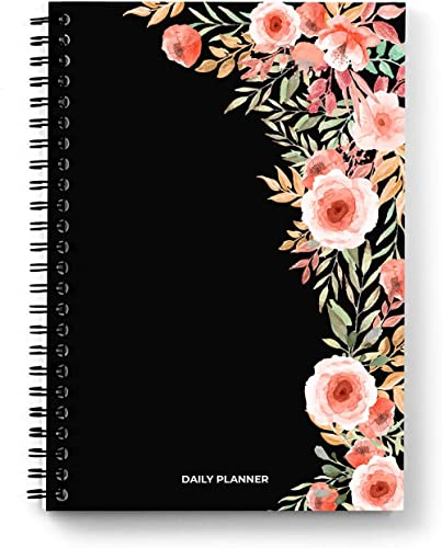 Sprout - Daily Planner; A5 Size; Undated; 200 Pages / 100 Sheets; Floral