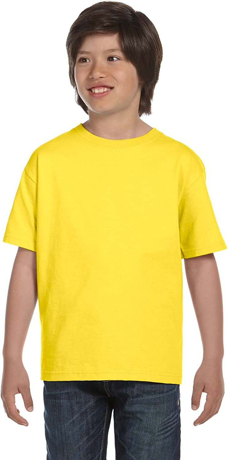 By Hanes Hanes Youth 61 Oz BEEFY-T - Yellow - S - (Style # 5380 - Original Label)
