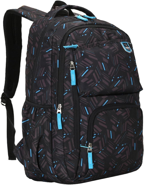 BAAFG Große Schulrucksack-Taschen Für Teenager-Jungen-Buch-Taschen-britische Art-wasserdichte Neutrale Reise-Studenten-Schultaschen-Rucksäcke Der Hohen Dichte B07GHBDQDV | Clever und praktisch