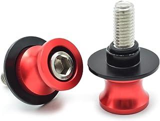 2pcs Universal CNC Diabolos M8*1.5 Basculante de Deslizadores Tornillos del Soporte para Kawasaki Z900 Z800 Z1000 Z650 ZX10R ZX6R// S1000RR S1000R S1000XR// CBR250R CBR600RR CBR900RR CBR954RR Plata