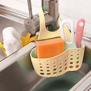 Sponge Holder Rack, Elevin(TM) Portable Home Kitchen Hanging Bag Basket Bath Storage Tools Sink Holder Rack (Khaki)