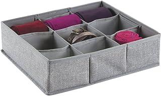 mDesign boite de rangement tissu (à 9 compartiments) – boite de rangement tiroir idéale – utilisation flexible du panier d...