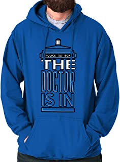 The Doctor is in Funny Dr Time Lord Who Hoodie