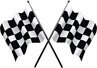 Edwin Group of Companies Checkered Flag Wall Decal | 4 Size Nascar Banner Vinyl Sticker | Checkered Flag Iron on Patch (10