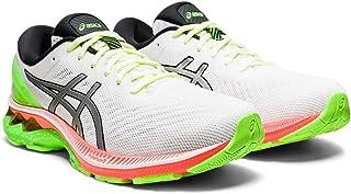 ASICS Men's Gel-Kayano 27 Lite-Show Running Shoes, 12.5M, White/Pure Silver