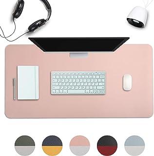 AOKSUNOVA 大型 マウスパッドゲーミング 事務机 デスクマット800 * 400mm マウスパッドおしゃれ キーボードパッド 滑り止め ピンク 合皮 ピンク/シルバー