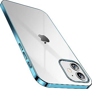 SmartDevil iPhone 12 Mini Case + Gratis Gehard Screenprotector, Anti-Geel Slank Doorzichtig Zachte Beschermende Transparan...