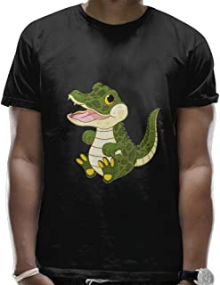 Mans Stylish Soft Crew Neck Crocodile Baby T Shirt