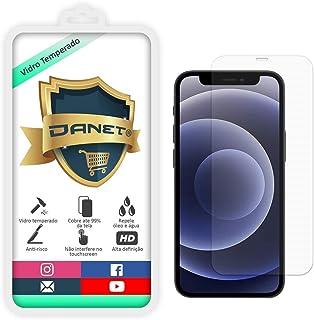 """Película De Vidro Temperado Para Iphone 12 e 12 Pro com Tela de 6.1"""" - Proteção Blindada Anti Impacto Top Premium - Danet"""