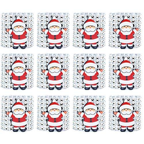 Toyvian 12 stücke Weihnachtsserviettenringe Serviettenschnallen Halter für Esstisch Weihnachtsschmuck