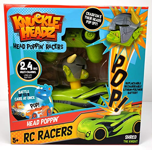 Knuckle Headz R/C Remote Control Rechargable Crash Derby Race Car with Easy-Turn Technology - Shred The Orc