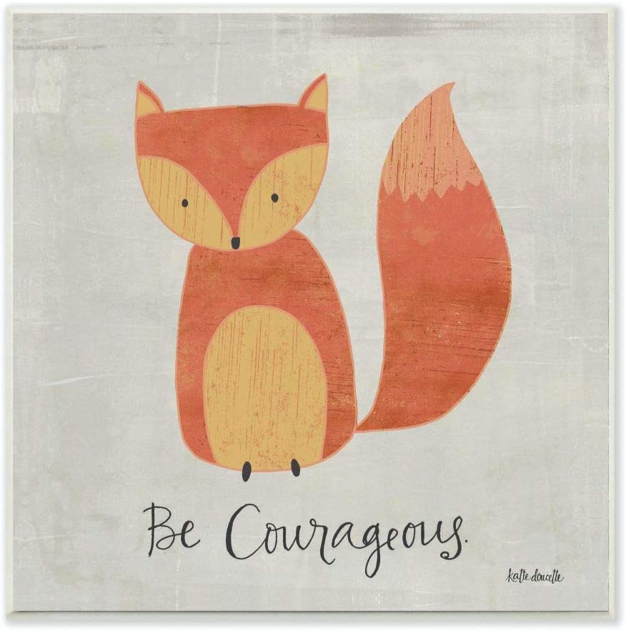 The Kids Room by Stupell Be Wall Graphic Courageous Memphis Mall Fox Large discharge sale Art Plaq