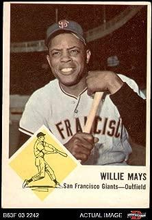 1963 Fleer # 5 Willie Mays San Francisco Giants (Baseball Card) Dean's Cards 3 - VG Giants