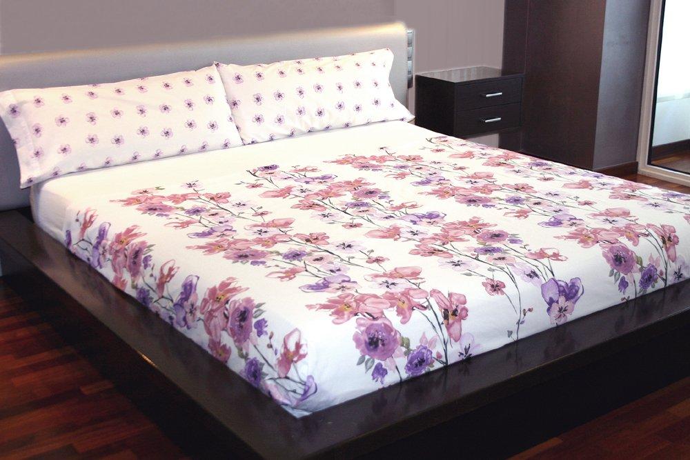 Juego de sábanas Flores Algodón 100% (BLUMMEN, para cama de 105x190/200): Amazon.es: Hogar