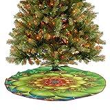 Decoración de falda de árbol de Navidad, diseño de flores en espiral en colores vivos, con imagen de Whirlpool Vortex, una fabulosa adición a tu árbol de Navidad, multicolor, 91,4 cm