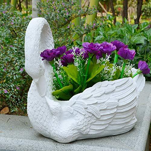 LLFFDC Maceta con Forma De Cisne, Maceta Suculenta De Resina Creativa, Maceta De Jardín para Interiores Y Exteriores