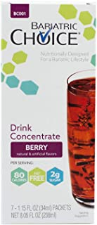 Bariatric Choice Low-Carb Liquid Protein Fruit Drink Concentrate - Berry Flavored Drink Mix To Enhance Water (7 Count)