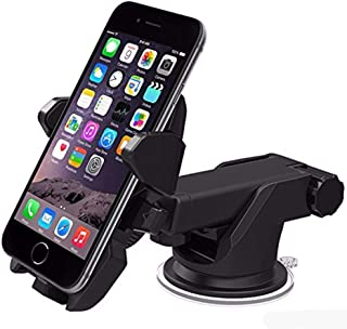 Strong Suction Long Neck One Touch Car Mount Windshield Dashboard Mobile Holder For Smartphones
