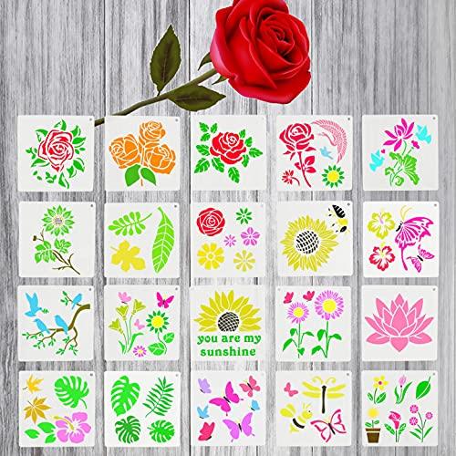 Plantilla para Pintar, Weinsamkeit 20 PCS Plantillas de Dibujo Plastico,Plantillas para Pintar...