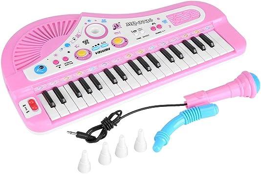 Yosoo Piano para Niños Teclado Electrónico Piano con Micrófono 37 Teclas Regalo para Niños Juguete de Música Multifuncional (Tipo 2)