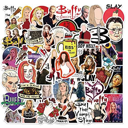 50PCS série télévisée américaine Buffy contre les vampires autocollants pour ordinateur portable bagages ordinateur portable tasse d'eau planche à roulettes autocollants pour garçons filles enfants