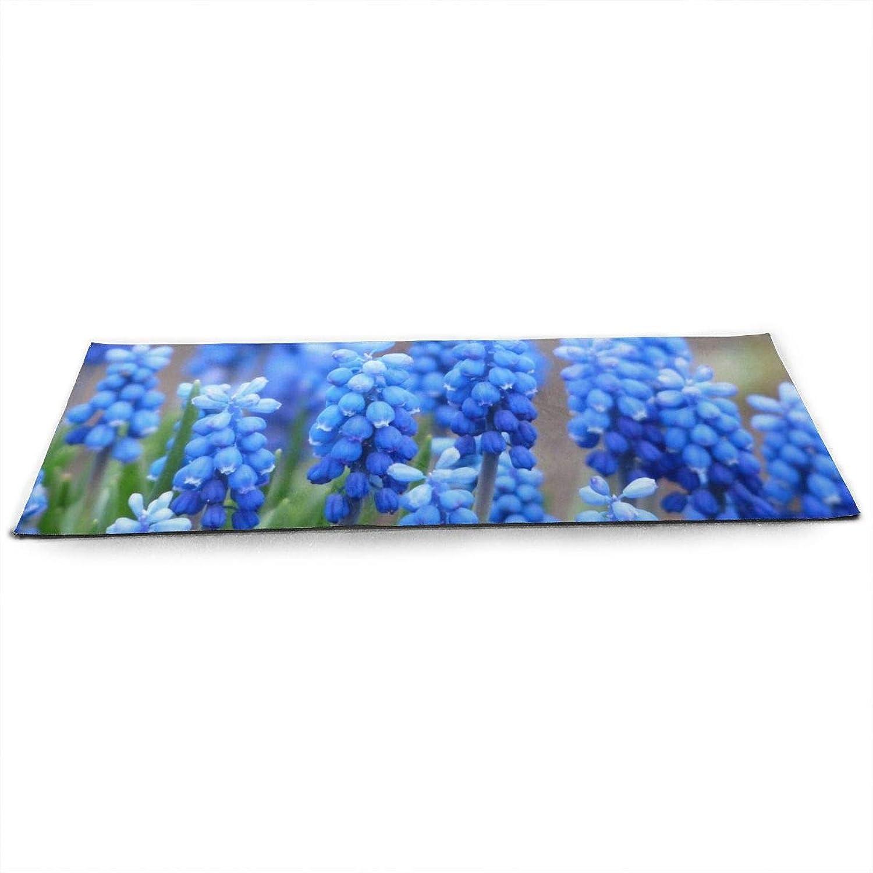 Whages MuscariCommonGrapeHyacinthBlossomBloom NonSlip Soft Advanced Printed Environmental Yoga Mat 31.5   × 51.2