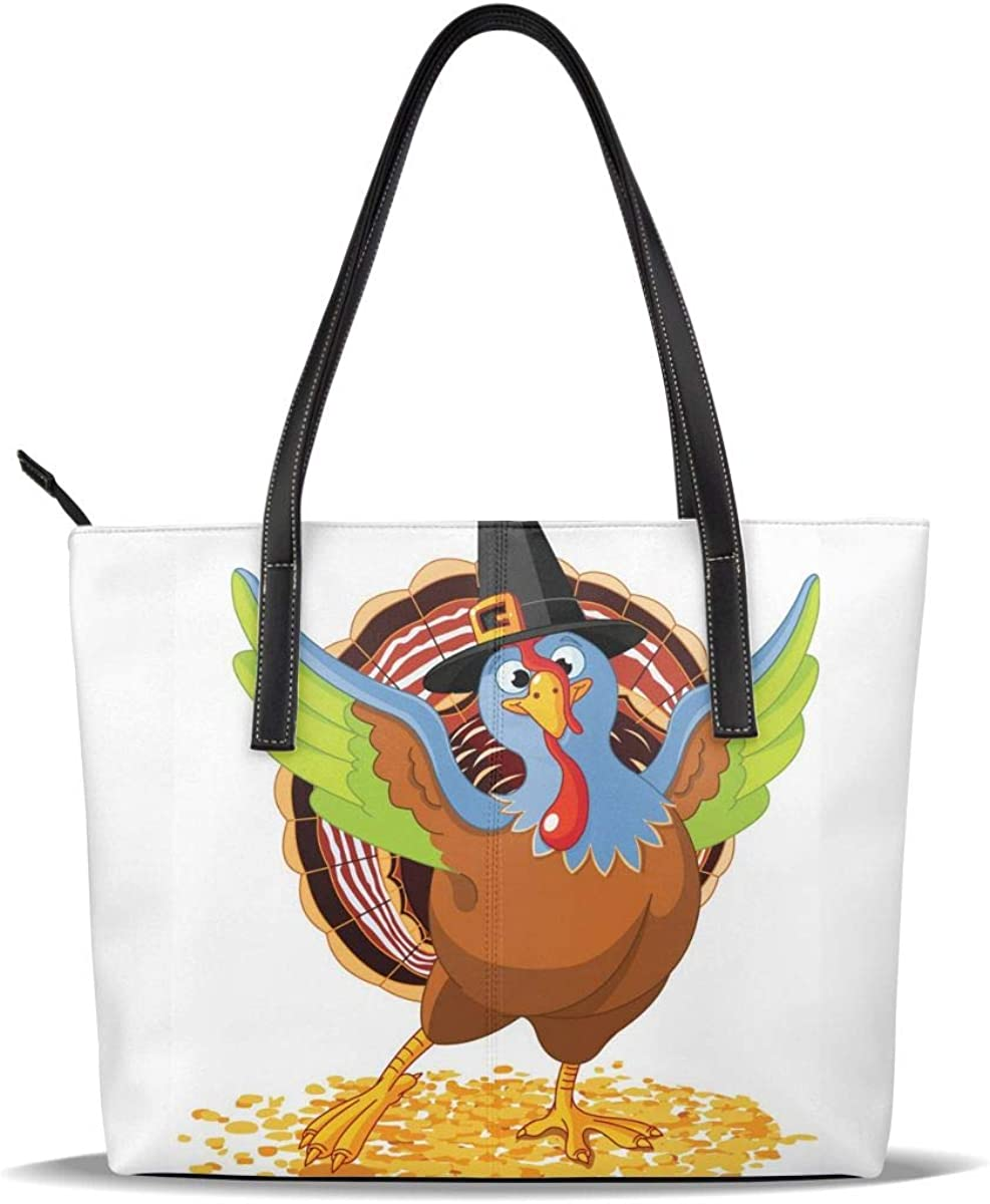 Art Leaf Thanksgiving Turkey PU H Casual Direct store Leather New product!! Pattern Printed
