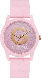 G by GUESS Women's Analog Quartz Watch with Silicone Strap, Pink, 5 (Model: G59042L7)