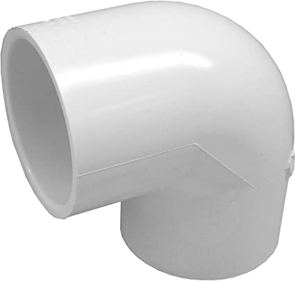 Pack of 6 1//2-Inch PVC 90-Degree Elbow Pipe Fitting Socket // Slip