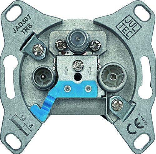 Jultec JAD307TRS 3-Loch Sat-Enddose | 7 dB Anschlussdämpfung | DC-Durchlass