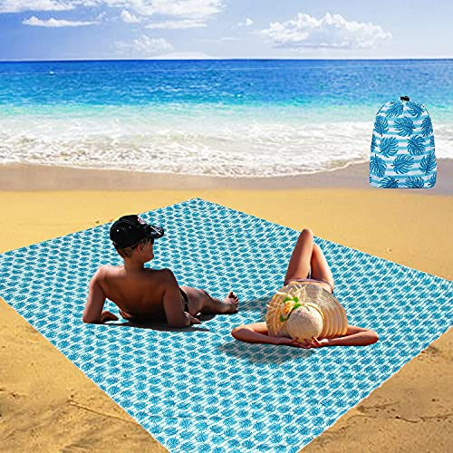 BRZSACR Tappetino da Spiaggia Senza Sabbia Coperta da Spiaggia Anti Sabbia Impermeabile Portatile 220 x 165 cm Coperta da Campeggio per all'aperto,Picnic, Viaggi, Campeggio e Altro