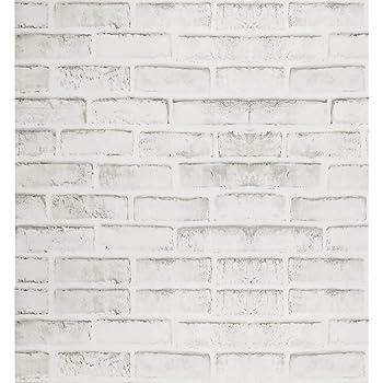 Papel Pintado de Ladrillo Gris Rústico Blanco Papel de Contacto Rústico Autoadhesivo Gris Decoración Del Hogar Pelar y Pegar Pegatinas de Puerta de Panel de Pared Contra Salpicaduras 44 * 500cm