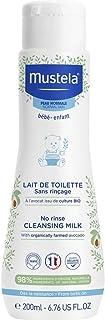 Mustela No Rinse Baby Cleansing Milk - with 98% Natural Ingredients - 6.76 fl. oz.