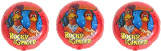 3 Chicken Run Rocky and Ginger Mylar Balloons - Multipack of 3 Foil Balloons