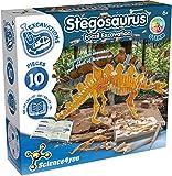 Science4you-Stegosaurus Fossil Escavation-Juguete Cientifico, Dinosaurios, 10 Piezas y Libro Educativo Multilingue, Regalo Original para Niños 6-8 Años, Multicolor (80002265)