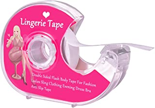 Boob Body Tape Clear Fabric Strong Double Sided Tape for Clothes Dress Bra Skin Bikini(5M/16ft)