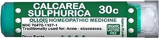 OLLOIS Organic & Lactose-Free Calcarea Sulphurica 30C Homeopathic Medicine, Pellets, 80 Count for Acne, Abscesses