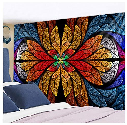 Tapiz de mandala colgante de pared indio 3D Jade decoración del hogar Fondo de sala de estar alfombra de pared tela manta Hippie