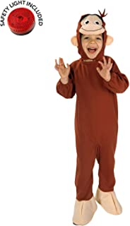 Curious George Costume with Safety Light - 2T-4T