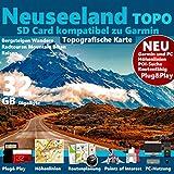 ★Neuseeland Garmin Karte Outdoor Topo microSD für Garmin Navigationsgeräte ★