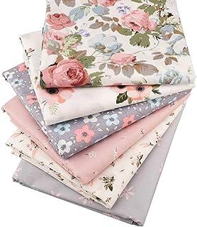 62a27ec6b3 6 pezzi/lotto floreale Series twill di cotone, patchwork, panno cucito fai  da