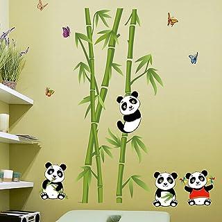 Wallpark Mignon Pandas Bambou Papillons Amovible Stickers Muraux Autocollants, Enfants Bébé Chambre Pépinière DIY Décorati...