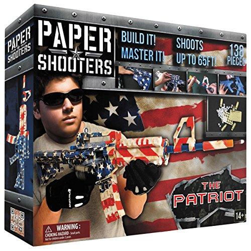 MFH Paper Shooters Bausatz Tactician Patriot zum selber Basteln Kinder US Army Gewehr Spielzeug Gewehr Pistole