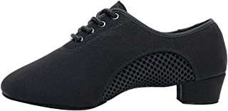 HIPPOSEUS Boys/Men lace-up Dance Shoes Kids Ballroom Dance Practice Shoes Low Heel for Latin Tango Salsa Dance Performence...
