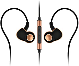 SoundMAGIC PL30+C Active Sport In-Ear Headphones with Microphone and Volume Control (Black/Gold)